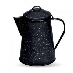 Cafetera esmaltada retro Negro