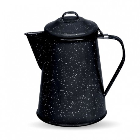 Black Retro enamel coffee pot