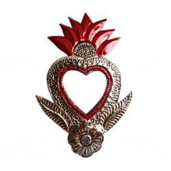 Coeur sacré à miroir Fleur