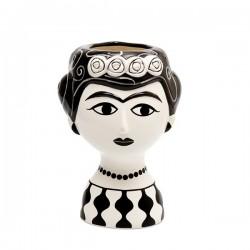 Jarrón Marisol Blanco y negro