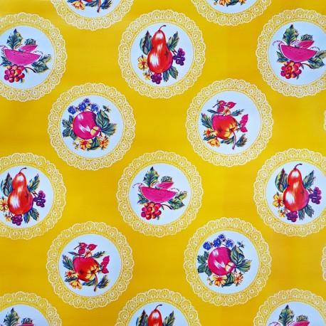 Hule Carpetas Amarillo