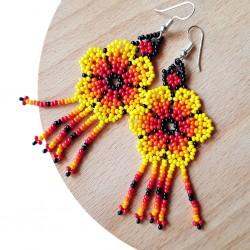 Aretes Flor Amarillo