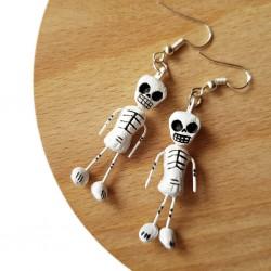 Boucles d'oreilles Squelettes