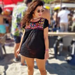 Blusa Mexicana Negro