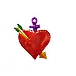 Petit coeur sacré transpercé Violet