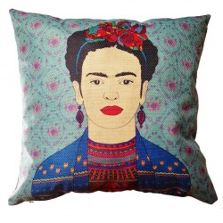 Burgundy Frida Kahlo cushion cover