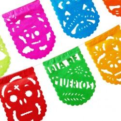 Papel picado Día de Muertos - Bandera fiesta mexicana - Casa Frida