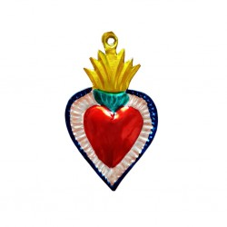 Yellow Tin flaming sacred heart