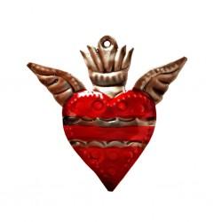 Coeur sacré avec petites ailes
