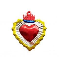 Sagrado corazón pequeño con aureola Amarillo
