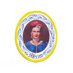 Yellow Frida Kahlo miniature plate magnet