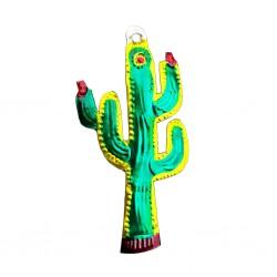 Décoration en étain Cactus
