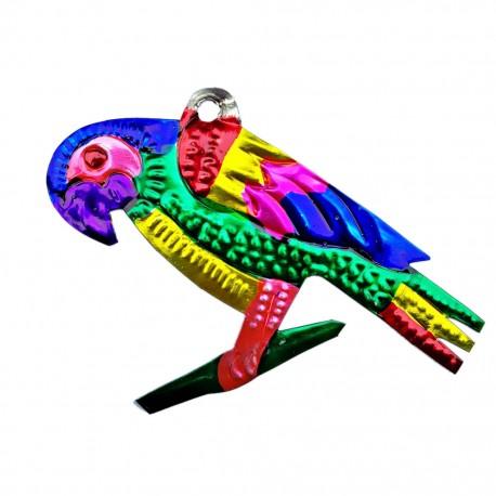 Parrot Tin ornament