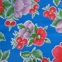 Royal blue Capullo oilcloth