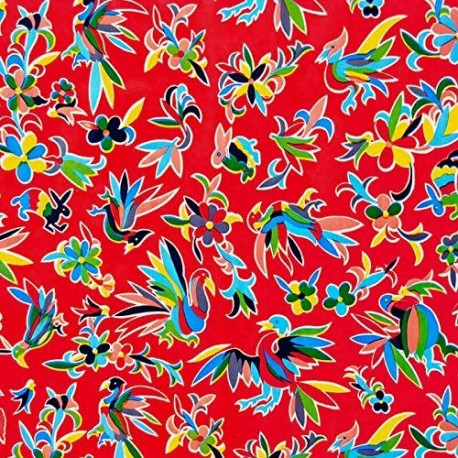 Red Otomi oilcloth