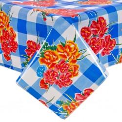 Blue Claveles oilcloth