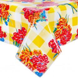 Yellow Claveles oilcloth