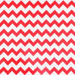 Red Zigzag oilcloth