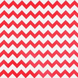Toile cirée Zigzag Rouge