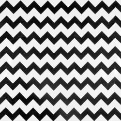 Black Zigzag oilcloth