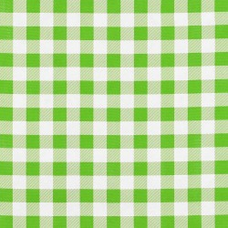 Green Check oilcloth