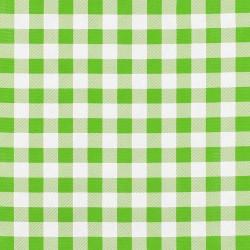 Hule Cuadros Verde