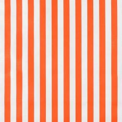 Orange Rayas oilcloth