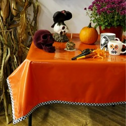 Orange Solid oilcloth