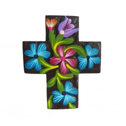 Black Flower cross