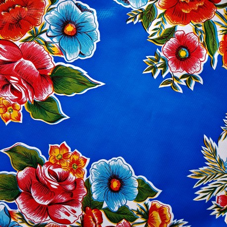 Blue Ramilletes oilcloth