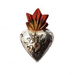 Petit coeur avec milagro Métal