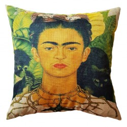 Thorn necklace Frida cushion cover