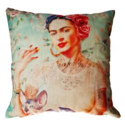 Funda de cojín Frida Tatuajes