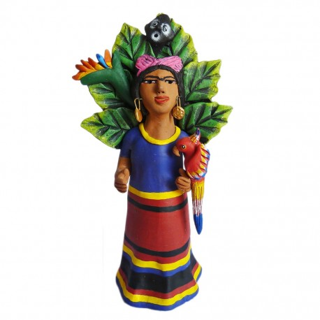 Figura Frida con Mono