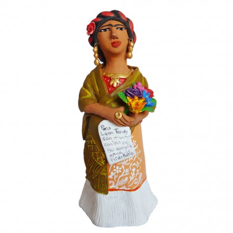 Statuette Frida con Carta
