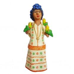 Statuette Frida con Loros
