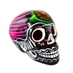 Black Sugar skull with bird