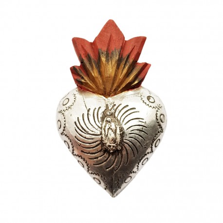 Tin Milagro heart