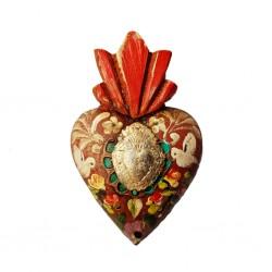 Coeur peint avec milagro