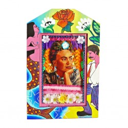 Frida Loteria Painted shrine