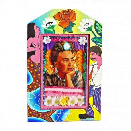 Nicho pintado Frida Loteria