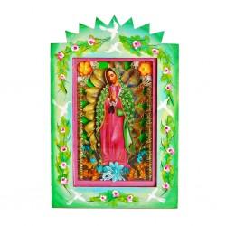 Nicho pintado Virgen de Guadalupe