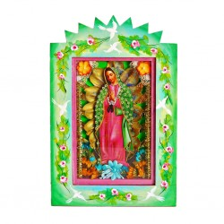 Virgin of Guadalupe Painted shrine