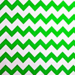 Green Zigzag oilcloth