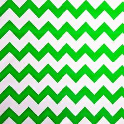 Green Zigzag oilcloth