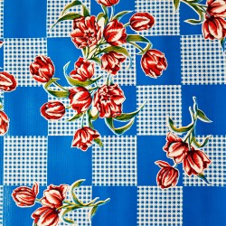 Blue Tulipanes oilcloth