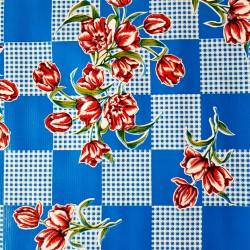 Toile cirée Tulipanes Bleu