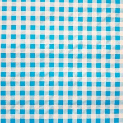 Blue Gingham oilcloth