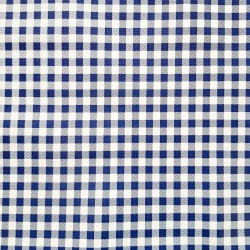 Navy blue Gingham oilcloth