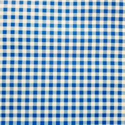 Toile cirée Vichy Bleu roi